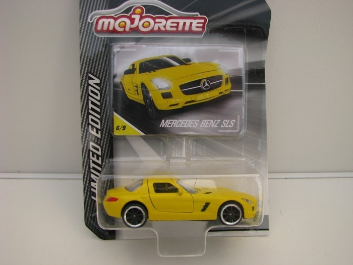 Mercedes-Benz SLS Matto Yellow blistr Majorette Limited Edition 4005